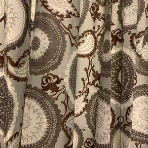 Threshold Gray Medallion Print Curtain Panels, 2